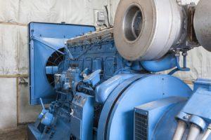 Großer Elektromotor in einer Firma